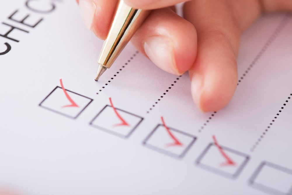 Person completing checklist